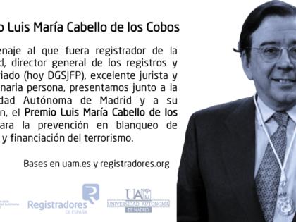 La UAM y el Colegio de Registradores constituye el Premio Luis María Cabello de los Cobos Mancha