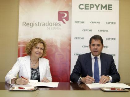 Convenio de colaboración entre el Colegio de Registradores y CEPYME